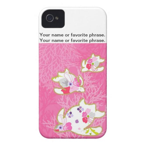 Sea turtle on pink background. iPhone 4 Case-Mate cases