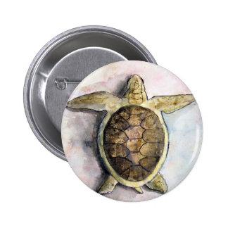 sea turtle painting art wild animal gifts 6 cm round badge