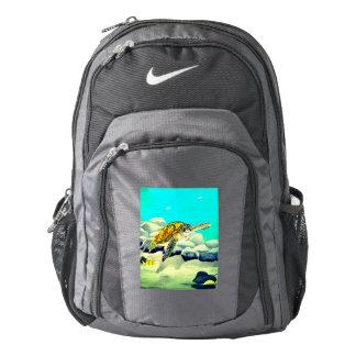 Sea Turtle Painting Beautiful Blue Sea Backpack