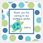 Sea Turtle Party Favour Square Sticker