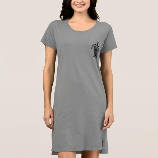 Sea Turtle Pattern T-Shirt Dress
