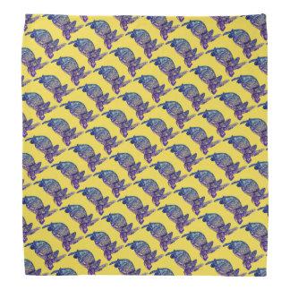 Sea Turtle Patterned on Yellow Bandana