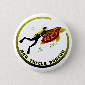 Sea Turtle Rescue 6 Cm Round Badge