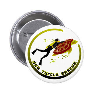 Sea Turtle Rescue 6 Cm Round Badge