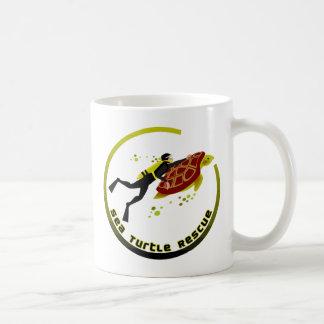 Sea Turtle Rescue Basic White Mug