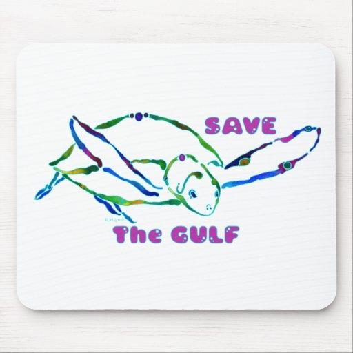 Sea Turtle Save the Gulf Design Mousepads
