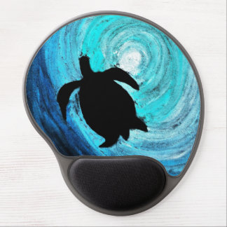Sea Turtle Silhouette Gel Mouse Mat