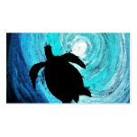 Sea Turtle Silhouette (K.Turnbull Art) Business Card Template