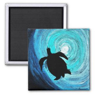 Sea Turtle Silhouette (K.Turnbull Art) Magnet