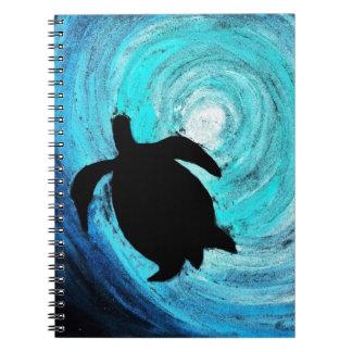 Sea Turtle Silhouette (K.Turnbull Art) Notebooks
