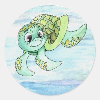 Sea Turtle Sticker- 2 Classic Round Sticker