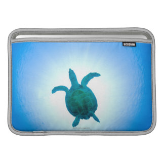 Sea turtle swimming underwater sleeve for MacBook air