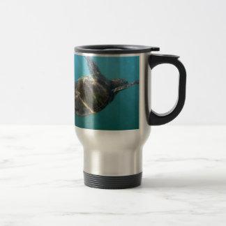 Sea Turtle swims in the water Coffee Mugs
