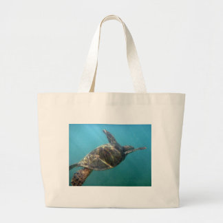 Sea Turtle swims in the water Tote Bags