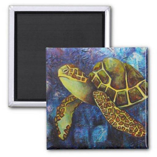 Sea Turtle, Texture Art magnets
