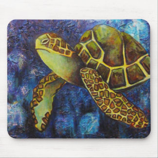 Sea Turtle, Texture Art Products Mouse Mat