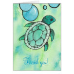 Sea Turtle Thank You Notes Greeting Card