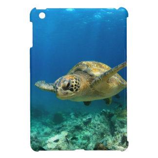Sea turtle underwater iPad mini cover