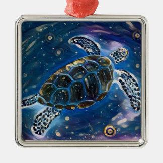 Sea Turtle Universe Watercolor Ornament