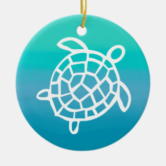 Sea Turtle Watercolor Ocean Christmas Ornament