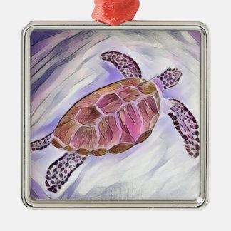 Sea Turtle Watercolor Ornament 3