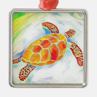 Sea Turtle Watercolor Ornament 4