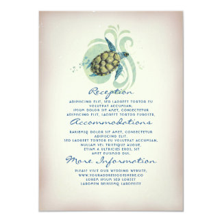 Sea Turtle Wedding Information Guest Card