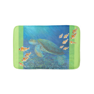 Sea Turtle with Personality Bath Mats
