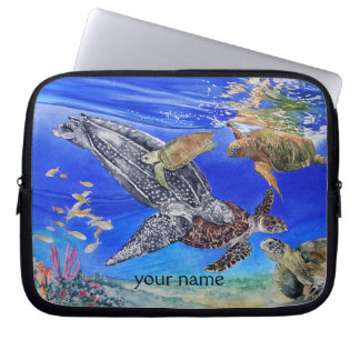 Sea Turtles Art Personalized Laptop Sleeve