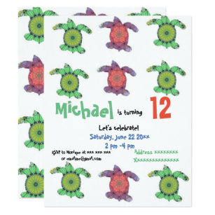 Sea turtle birthday invitations zazzle uk sea turtles birthday party invitation filmwisefo