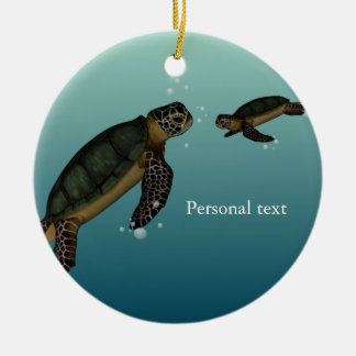 Sea Turtles Christmas Ornament