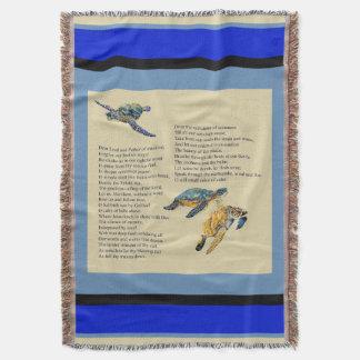 Sea Turtles Ocean Poem Prayer Throw Blanket