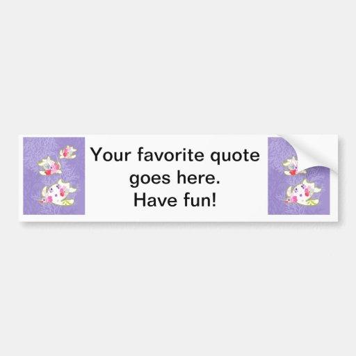 Sea Turtles on Plain violet background. Bumper Stickers