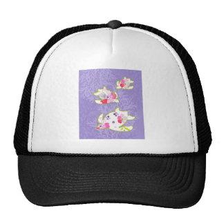 Sea Turtles on Plain violet background. Trucker Hats