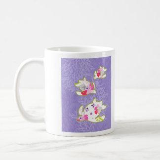 Sea Turtles on Plain violet background. Mug