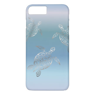 Sea Turtles Silver Blue Gradient iPhone 8 Plus/7 Plus Case