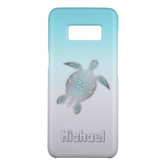 Sea Turtles Silver Monogram Animal Case-Mate Samsung Galaxy S8 Case