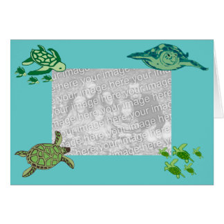 Sea Turtles template card