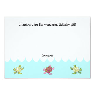 Sea Turtles Thank you notes or stationery Card