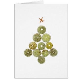 Sea Urchin Christmas Tree Card