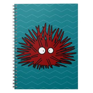 Sea Urchin Uni Spiny Black Hedgehog Ocean Notebook