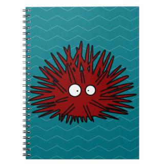 Sea Urchin Uni Spiny Black Hedgehog Ocean Spiral Notebook