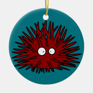 Sea Urchin Uni Spiny Red Hedgehog Ocean Christmas Ornament