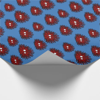 Sea Urchin Uni Spiny Red Hedgehog Ocean Wrapping Paper