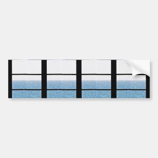 Sea view bumper sticker