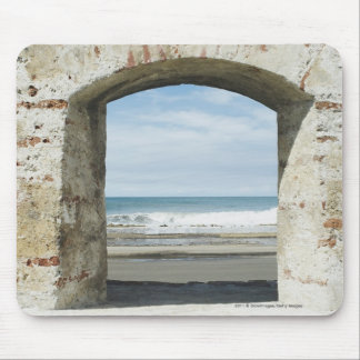 Sea viewed from an archway mouse pad