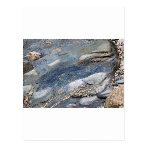 Sea-washed rocks postcards