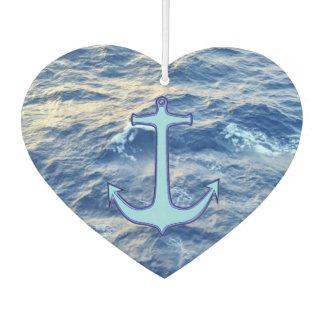 Sea Water Anchor Blue Heart Car Air Freshener