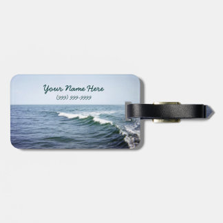 Sea Water Personalized Luggage Tag