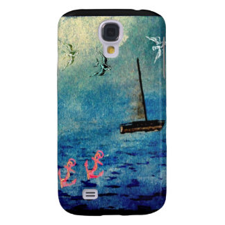 Sea Waves Sailboat Anchors Birds Phone Case